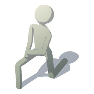 knee lunge for back pain